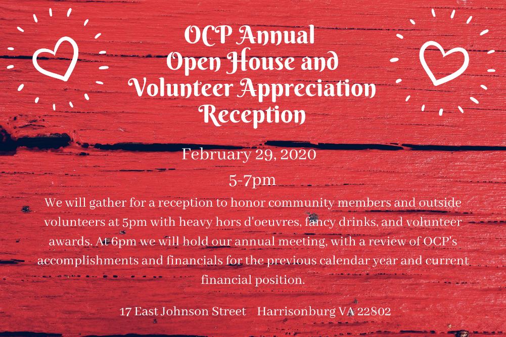 Annual Open House and Volunteer Appreciation Reception